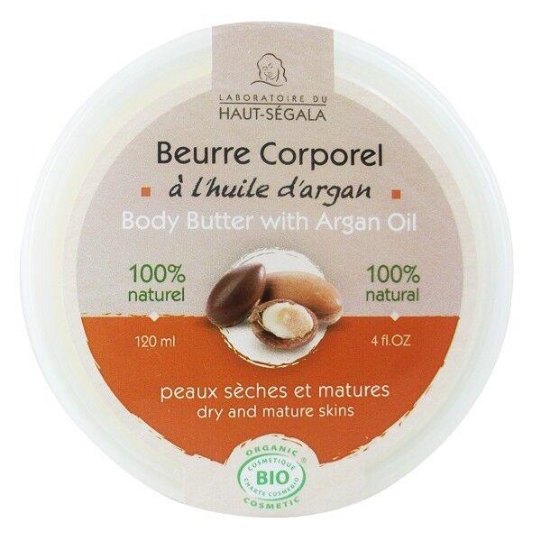Laboratoire du Haut Ségala Beurre corporel Huile d'argan 120 ml - Peaux sèches et matures
