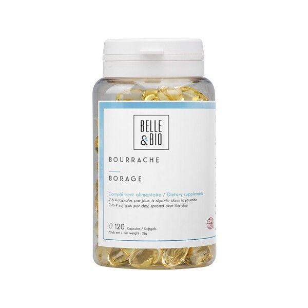 Belle et Bio Huile de Bourrache bio 120 capsules - Beauté et qualité de la peau