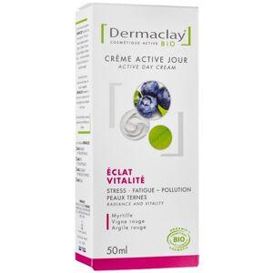 Dermaclay Crème de jour 50 ml - Éclat et Vitalité pour peaux ternes - Publicité