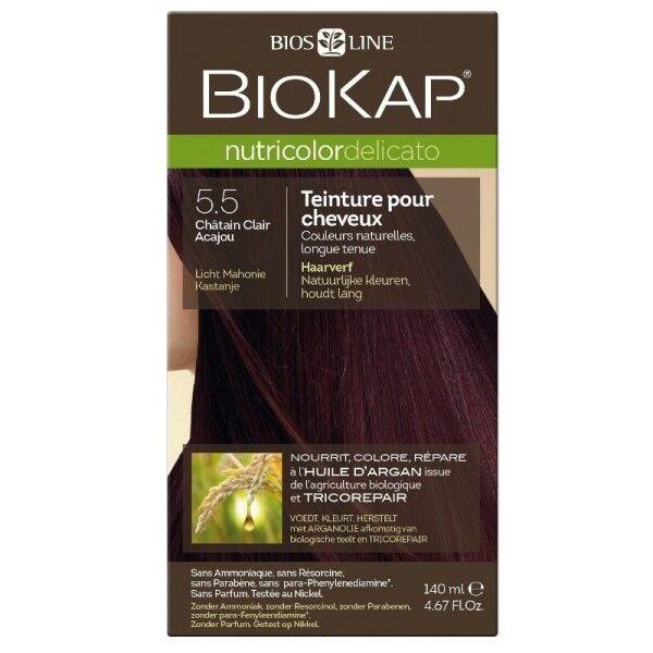 Biokap Coloration 5.50 Châtain Clair Acajou - Delicato