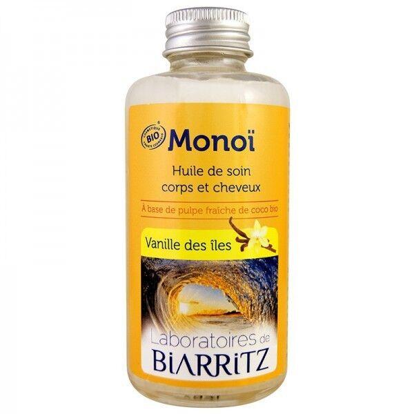Laboratoires de Biarritz Huile de Monoï 100 ml - Vanille des îles