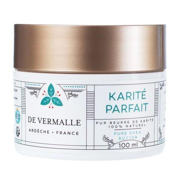 de Vermalle Beurre de Karité bio 100 ml - Pur et Non raffiné