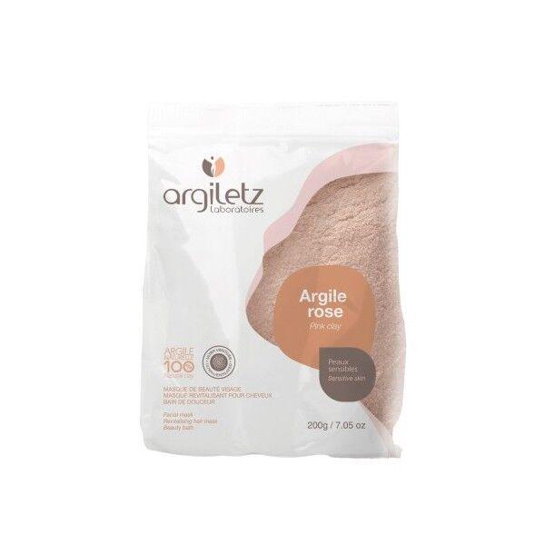 Argiletz Argile Brute Rose ultra ventilée 200g - masque et bain