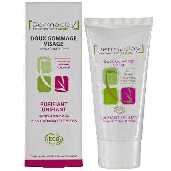 Dermaclay Gommage doux Purifiant et Unifiant 75ml - Peaux Normales à Mixtes