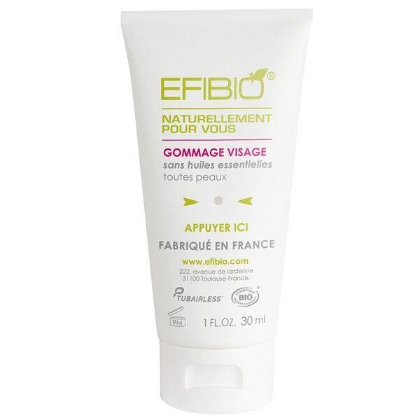 Efibio Gommage Visage 30ml - Noyaux d'Olives et Eau de Framboise