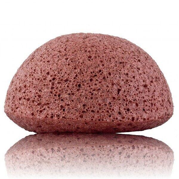 The Konjac Sponge Company Éponge Konjac Visage – Argile Rouge - Peaux Sèches et Matures