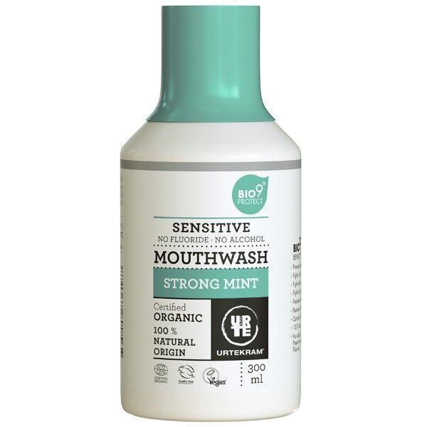 Urtekram Bain de Bouche Bio à la Menthe forte 300 ml - Sensitive Bio9®