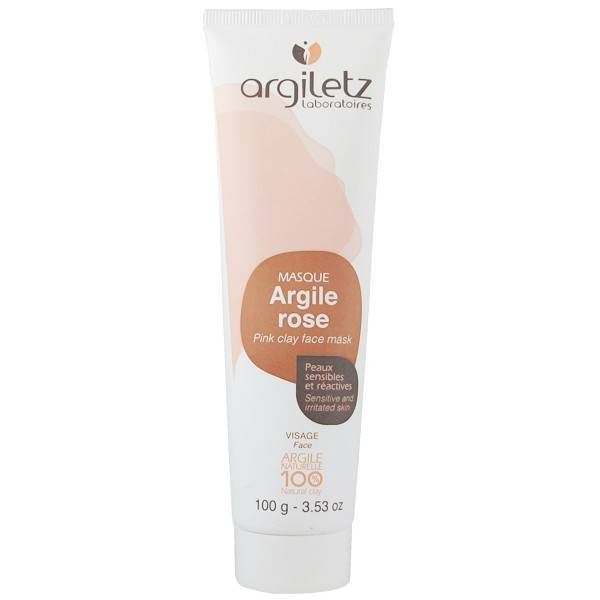 Argiletz Masque Visage Argile Rose 100g - Peaux sensibles et réactives
