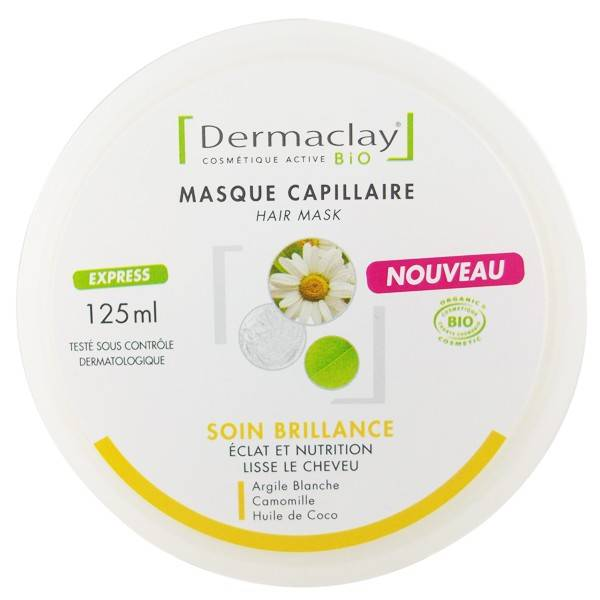 Dermaclay Masque Capillaire Soin Brillance 125ml - Éclat et Nutrition
