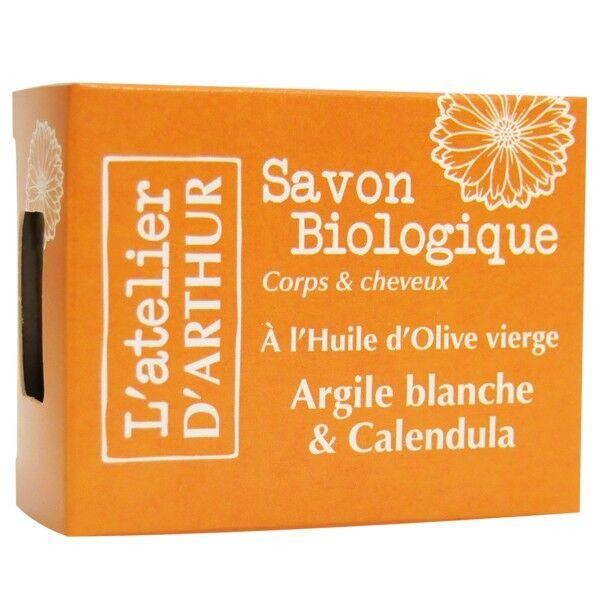 L'Atelier d'Arthur Savon Argile Blanche et Calendula 100gr - Apaise et soulage les rougeurs