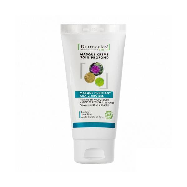 Dermaclay Masque purifiant aux 2 argiles 75 ml - Resserre les pores