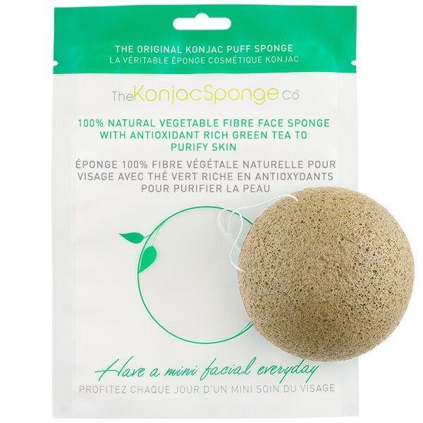 The Konjac Sponge Company Éponge Konjac Visage – Thé Vert - Antioxydante et Purifiante