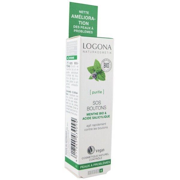 Logona SOS Boutons 6 ml - Soin purifiant contre les boutons
