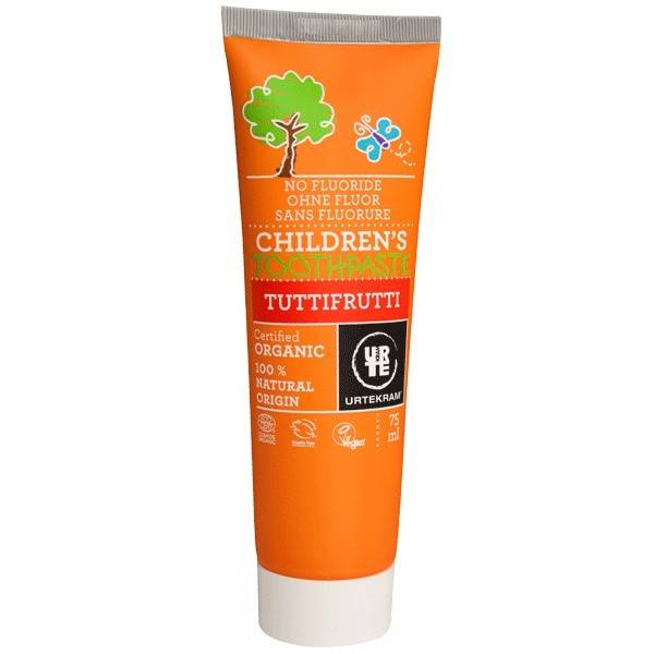 Urtekram Dentifrice Bio Tutti Frutti Enfant 75 ml - Sans Fluor