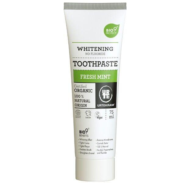 Urtekram Dentifrice Bio à la Menthe Fraiche Sans Fluor 75ml - Blancheur Bio9®