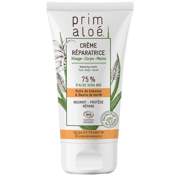 Prim aloé Crème Réparatrice Universelle 150 ml - 75% Aloé Vera Bio