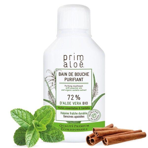 Prim aloé Bain de Bouche Purifiant Bio 250ml - 72% d'Aloe Vera