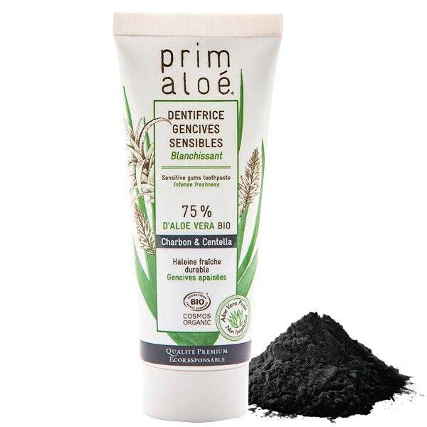 Prim aloé Dentifrice Bio Charbon Blanchissant 75 ml – 75% Aloe Vera