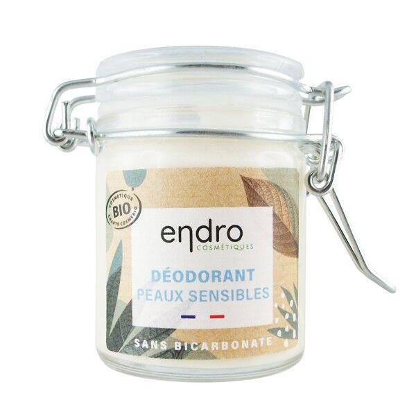 Endro Cosmétiques Déodorant solide Bio 50 ml Peaux Sensibles - Aloe vera et Concombre