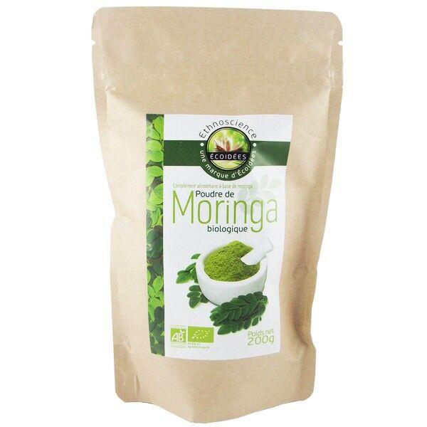 Écoidées Poudre de Moringa Pur Bio 200 gr