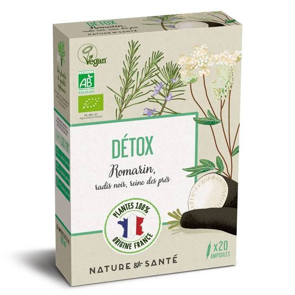 Nature & Santé Ampoules Bio Détox 20x10ml - Aux plantes françaises