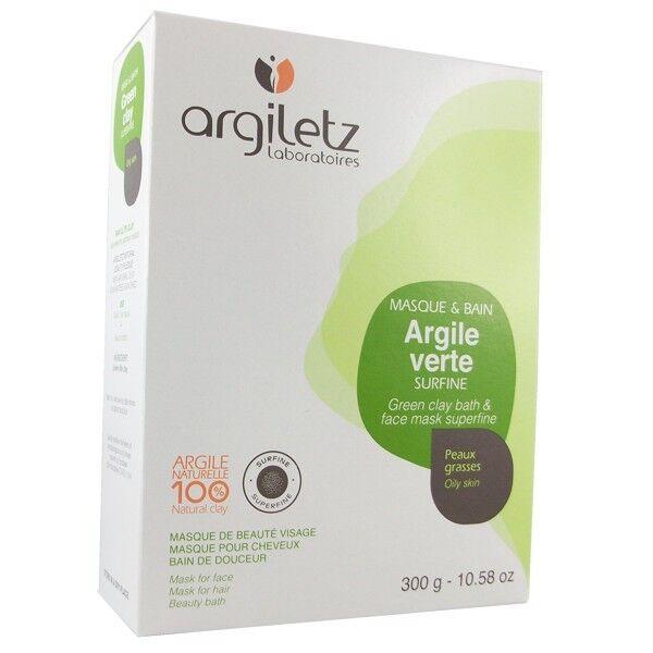Argiletz Argile Brute Verte surfine 300g - masque et bain
