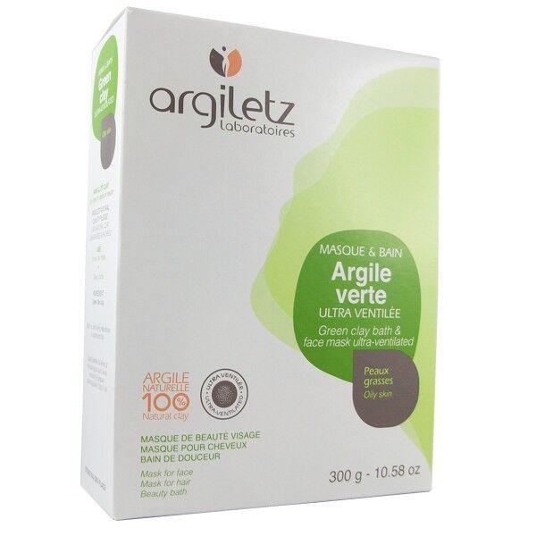 Argiletz Argile Brute Verte ultra ventilée 300g - masque et bain