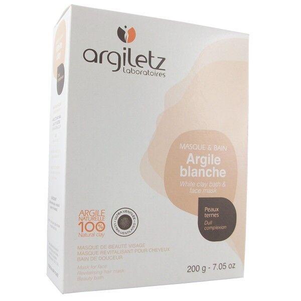 Argiletz Argile Brute Blanche ultra ventilée 200g - masque et bain