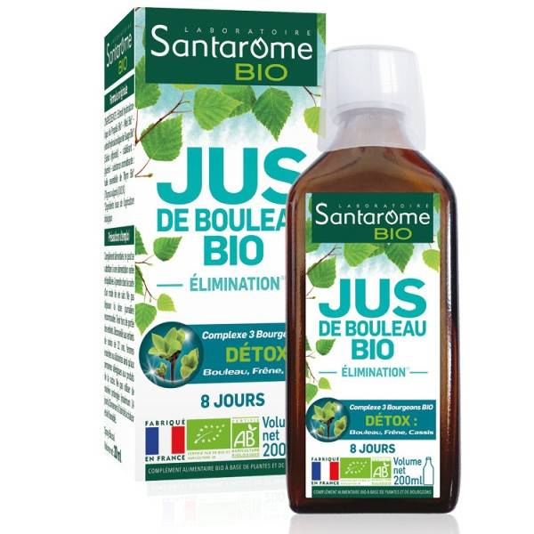 Laboratoire Santarome Bio Jus de Bouleau Bio 200ml – Détox