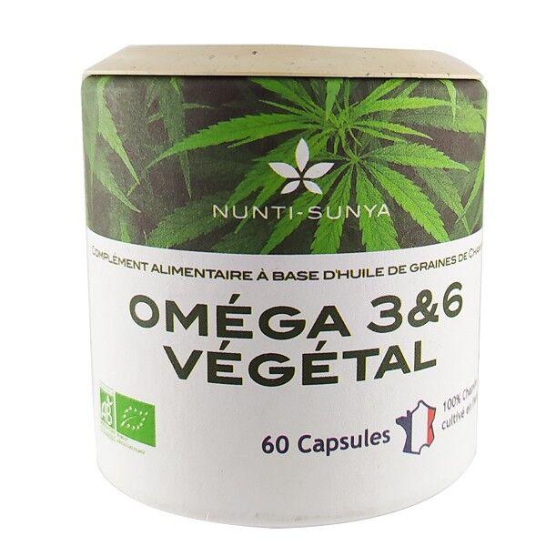 Nunti-Sunya Oméga 3 & 6 (60 capsules) à base d'huile de chanvre Bio
