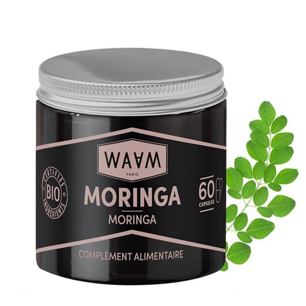 WAAM Cosmetics Capsules de Moringa Bio - 60 Capsules