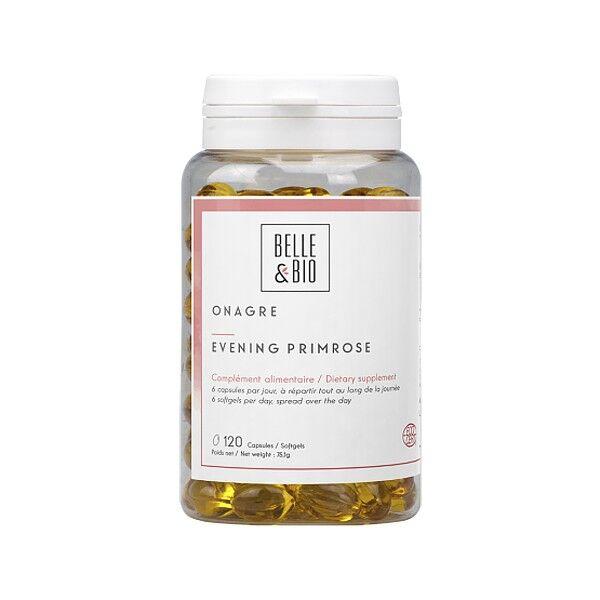 Belle et Bio Onagre Bio 120 capsules - Régulateur cycle menstruel