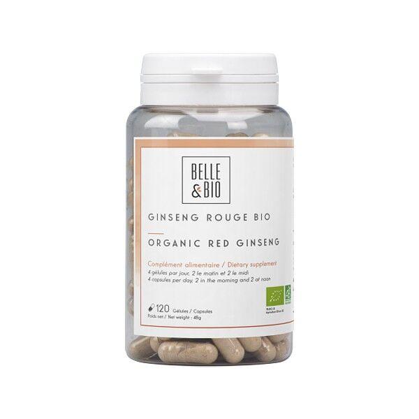 Belle et Bio Ginseng Rouge Bio 120 Gélules  - Stimulant Anti fatigue