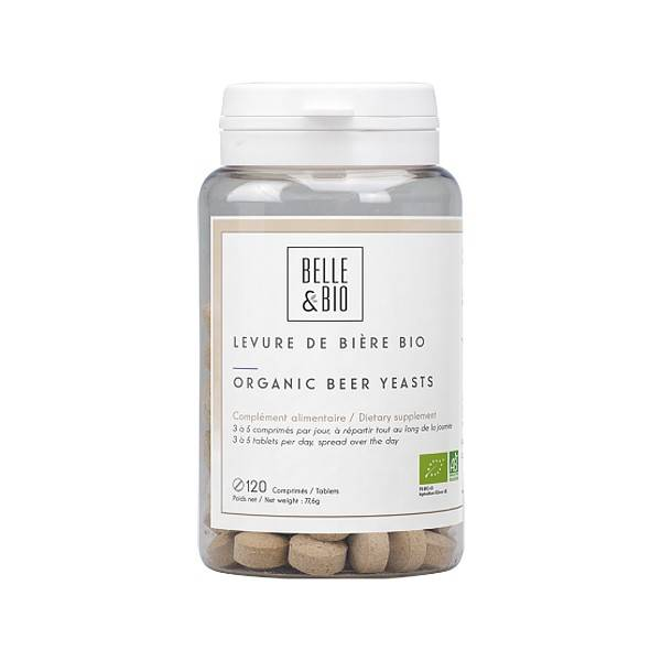 Belle et Bio Levure de Bière Bio 120 comprimés - Beauté et Croissance des Cheveux