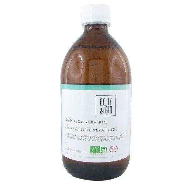 Belle et Bio Jus d'Aloé Vera Bio 500 ml - 99.5% Aloe Vera