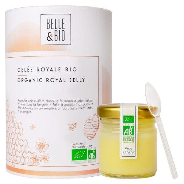 Belle et Bio Gelée Royale Bio 100% - Pot de 30 Grammes