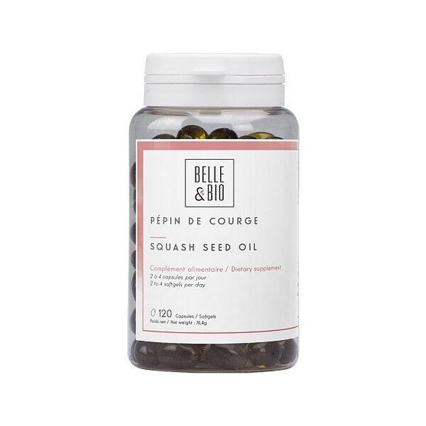 Belle et Bio Huile de Pépins de Courge en Capsules 120 capsules - Prostate
