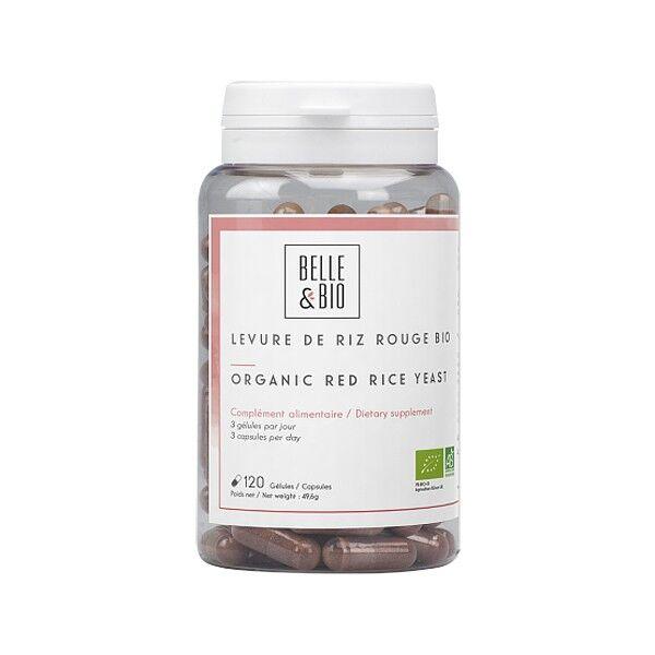 Belle et Bio Levure de riz rouge Bio 120 Gélules -  0,40 % Monacoline K