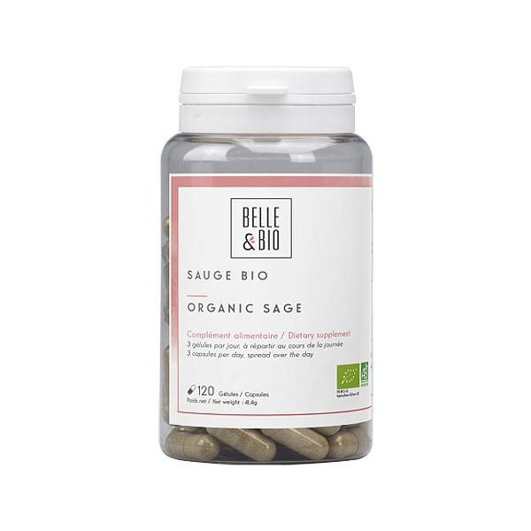 Belle et Bio Sauge Bio 120 Gélules - Bien-être hormonal féminin