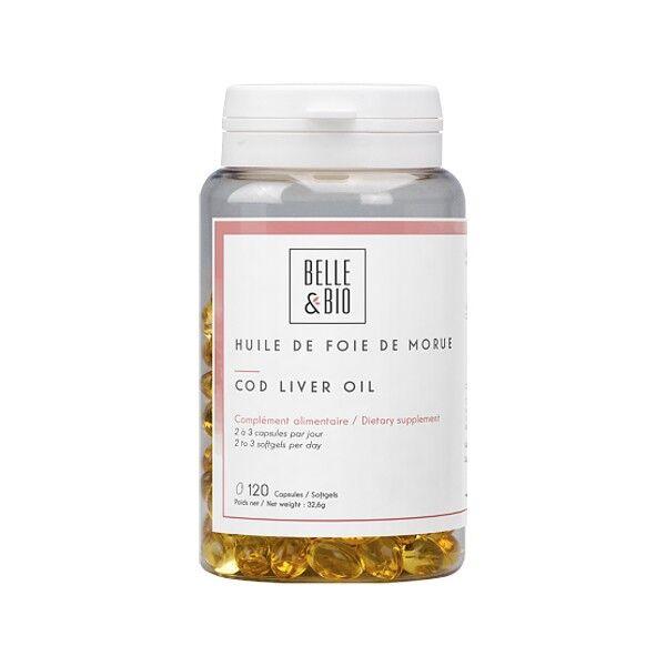 Belle et Bio Huile de Foie de Morue 120 capsules - Source de vitamine