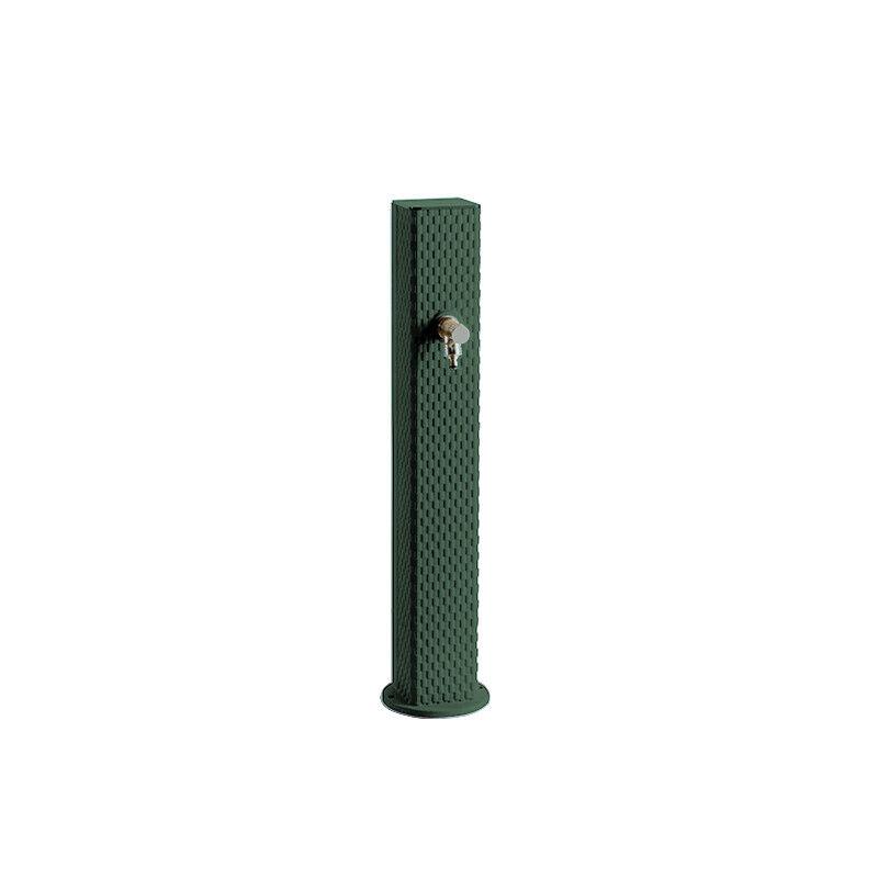Borne fontaine en fonte Pixel vert sablé