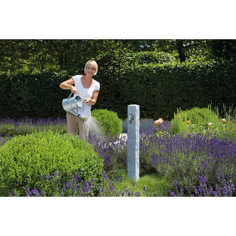 Fontaine de jardin imitation granit gris