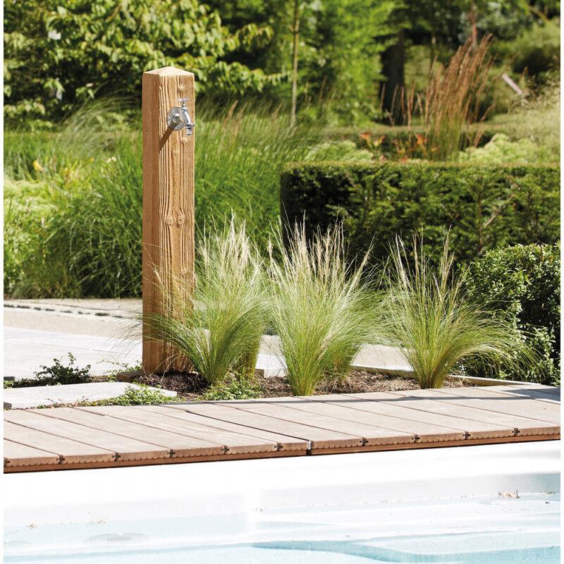 Fontaine de jardin imitation bois