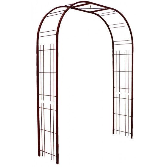 Louis Moulin Arche de jardin double treillage large en acier fer vieilli