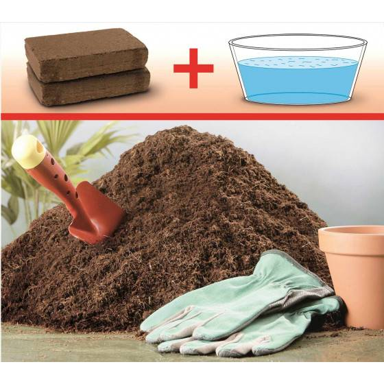 Jardin et Saisons Terreau coco compressé (2 briquettes)