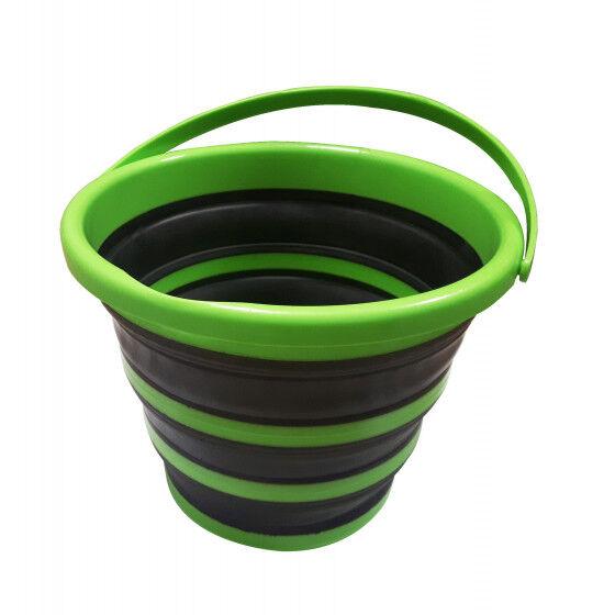 Jardin et Saisons Seau pliable 10 litres en silicone rétractable