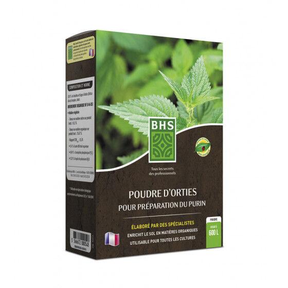 BHS Poudre d'ortie 300 g pour préparation de purin dilué