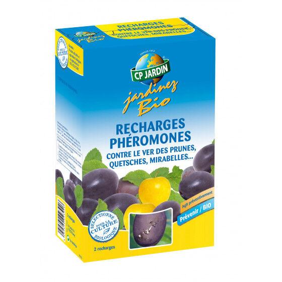 CP JARDIN 2 recharges pour piège à phéromone contre le ver des prunes