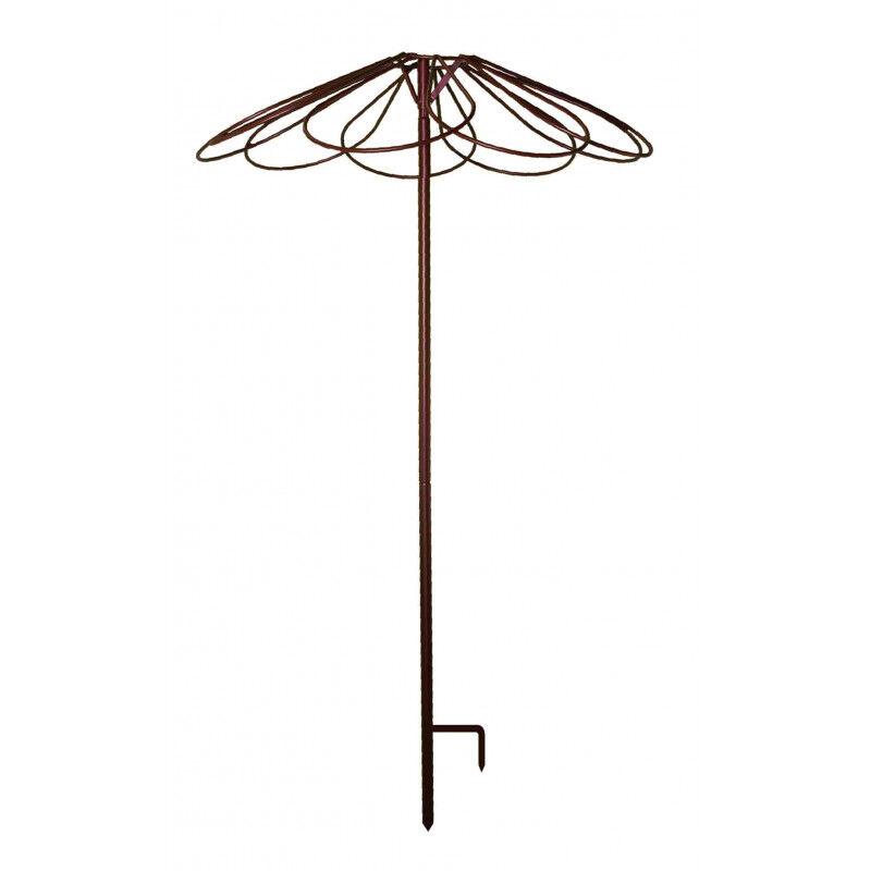 Tuteur parapluie pour rosier pleureur 9 pétales en acier