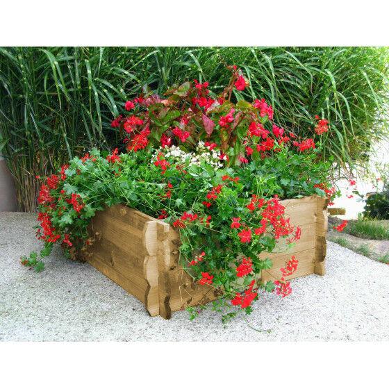 Jardin et Saisons Maxi carré potager en bois non traité H 33 cm